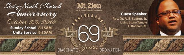 69 Church Anniversary